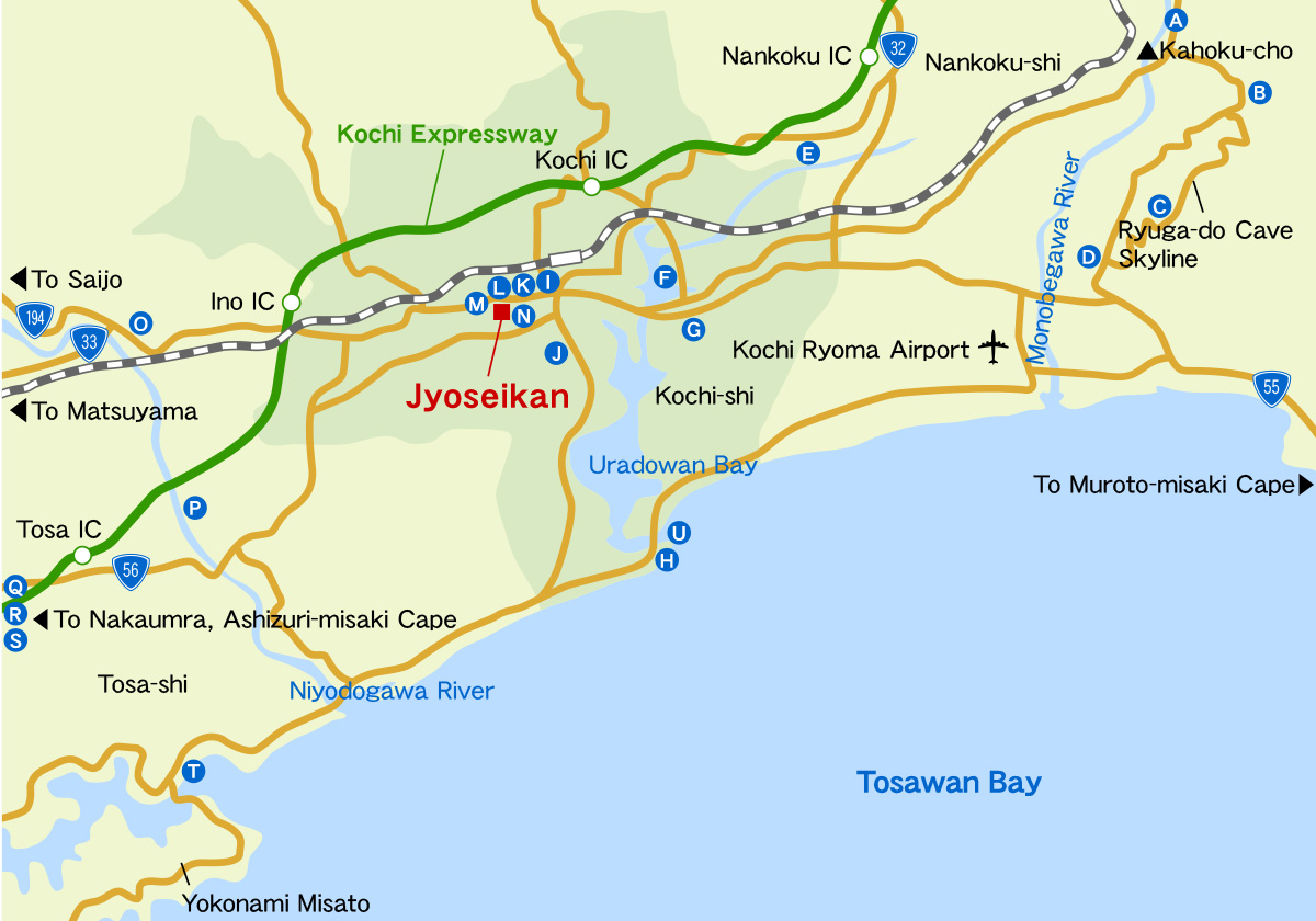 Kochi central area map